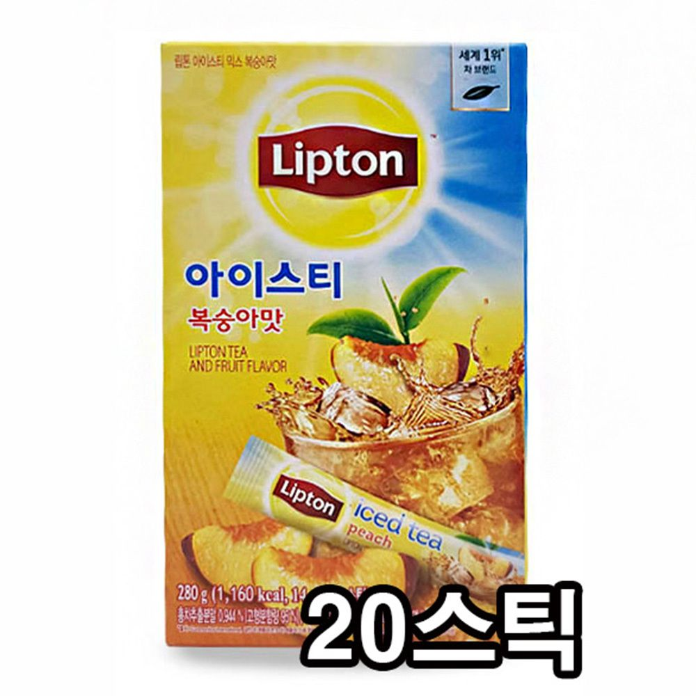 립톤 아이스티 믹스 복숭아맛 맛있는 홍차 20스틱