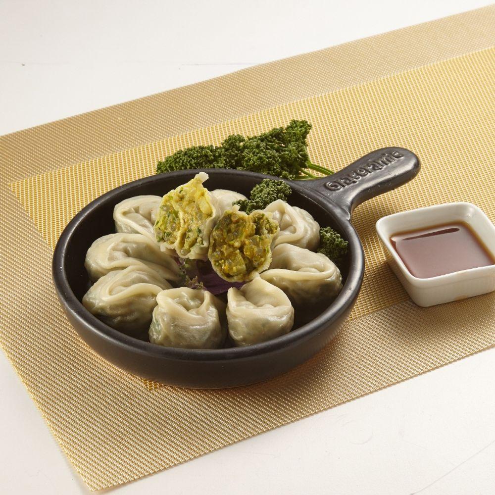 오강푸드 국산 채식 비건 간식 야식 카레 만두 320g