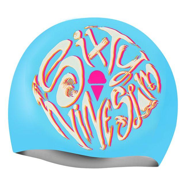 수영모자 로고플레이 SLB69SLAM 실리콘 수모 수영용품 수중운동용품 디자인수영모