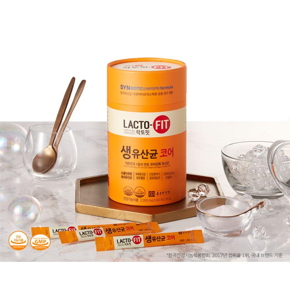 종근당 프로+프리바이오틱스 유산균 락토핏 코어 60포