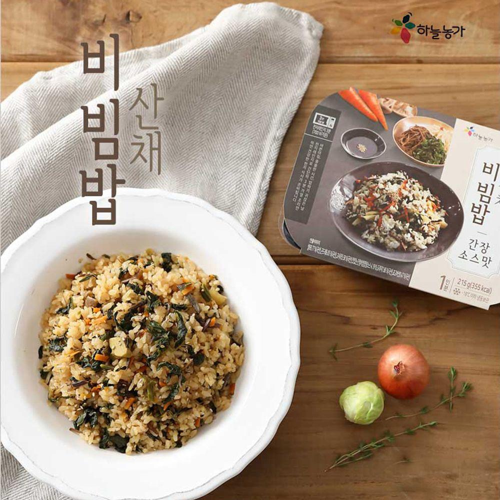 산채비빔밥 건강한한끼식사 3분 OK 간장 고추장 소스