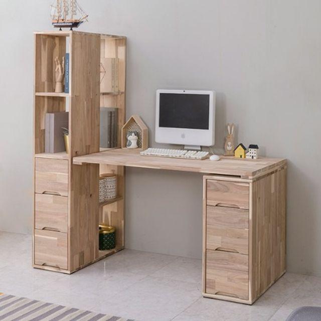 컴퓨터 책상세트(1200) 서랍장 책꽂이 공부상 다용도