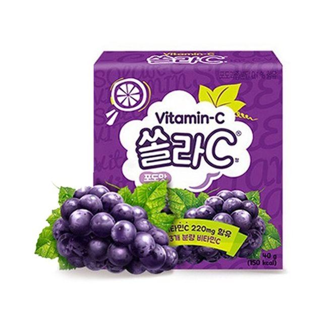 쏠라C 20정 블루베리맛 씹어먹는 비타민C 무설탕