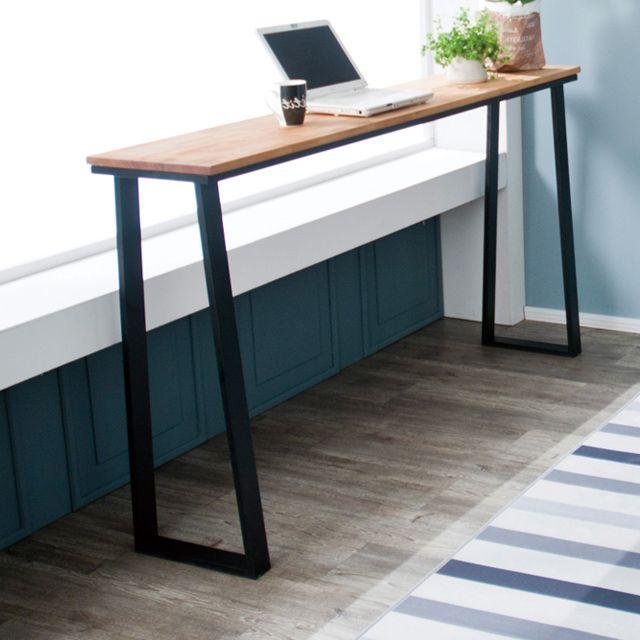 원목 홈바 아일랜드 식탁 카페 키높이 테이블 1500