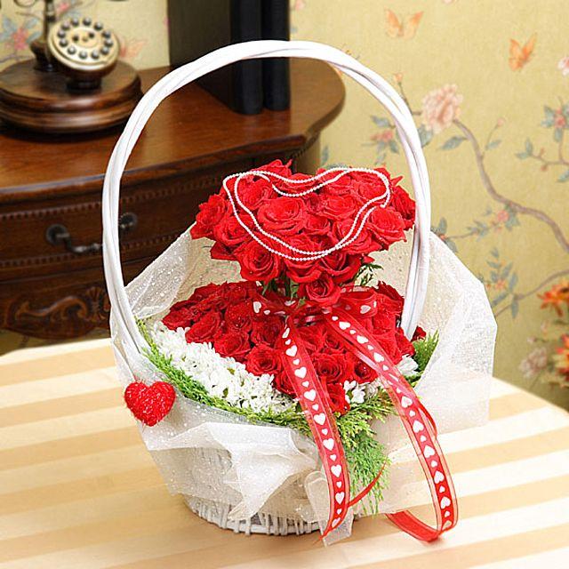 내안의그대 꽃바구니-특급 3시간배송 전국 꽃배달 고백 결혼 기념일 감사선물