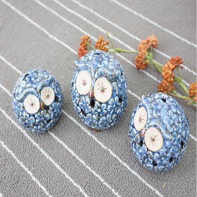 미니어처 벚꽃 부엉이 3P 장식소품 인테리어장식소품