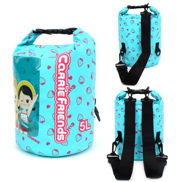 드라이백 캐리 프렌즈 드라이백팩 5L 물놀이가방 방수백 비치백 아쿠아가방