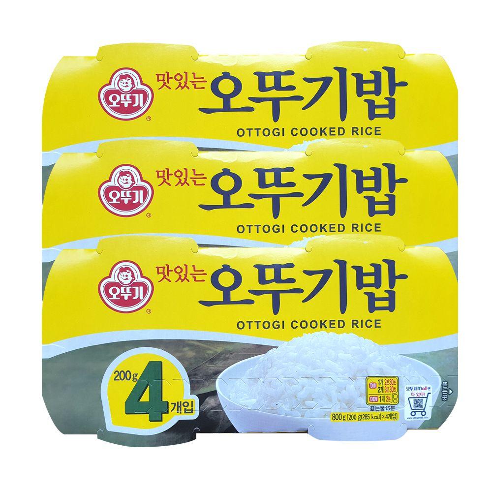 오뚜기 오뚜기밥 200g 4개입 x 3개