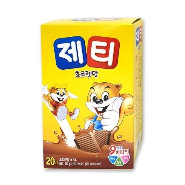 제티 초코렛맛 20스틱 타먹는 쵸코음료 제티가루 초코