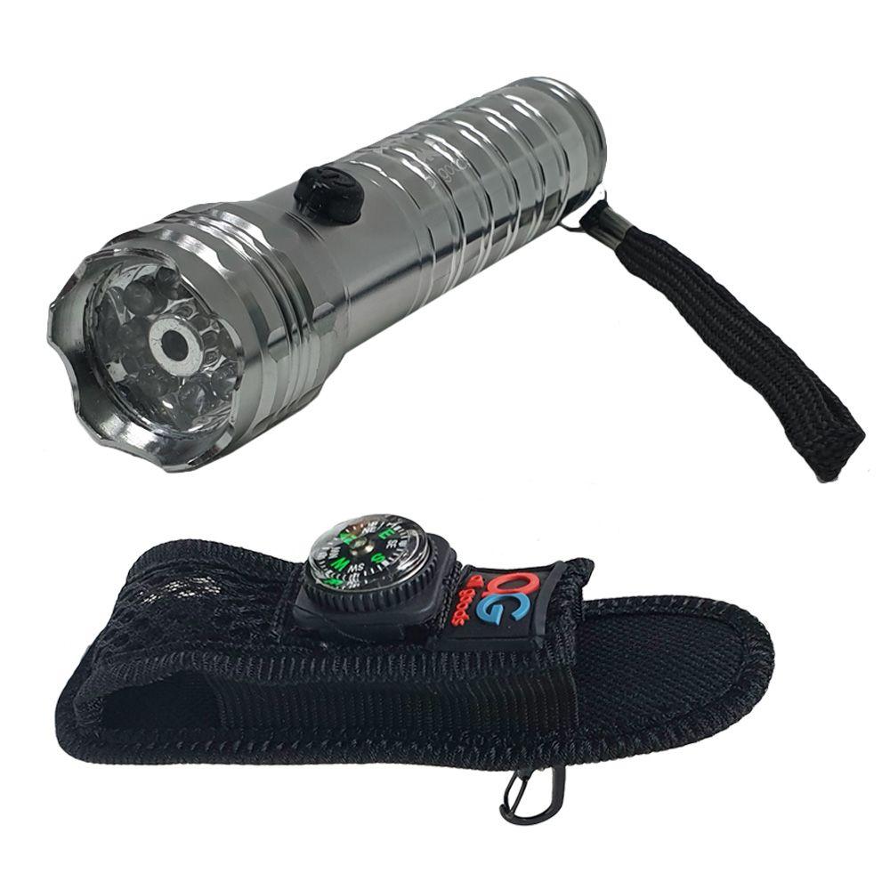 AG 8플러스1 LED 소형 후레쉬 파우치 포함
