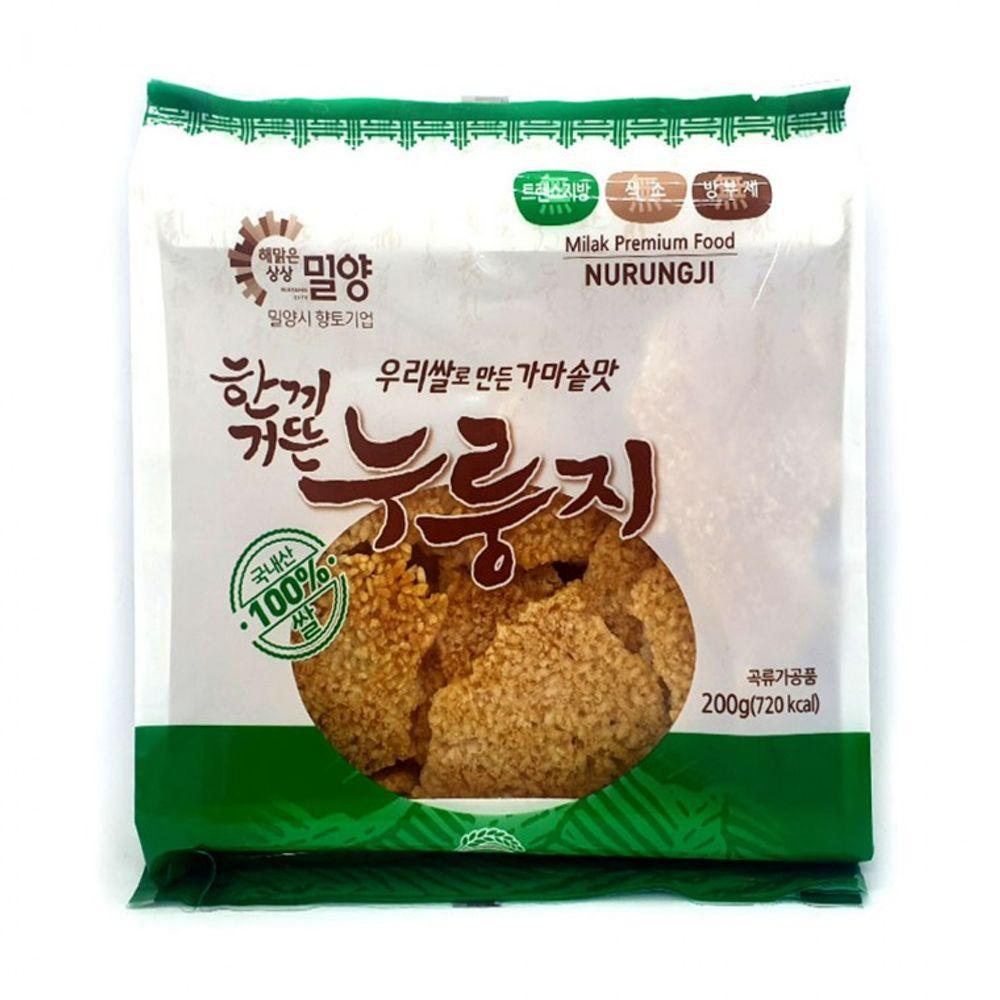 무 방부제 무 색소 고소한 누룽지 우리쌀 국내산 200g
