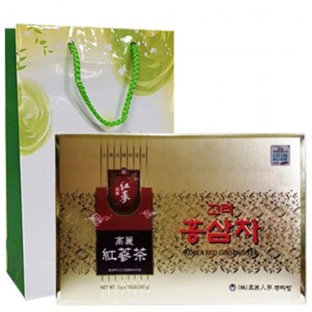 (뿌리방) 홍삼차 100포 + 쇼핑백포함