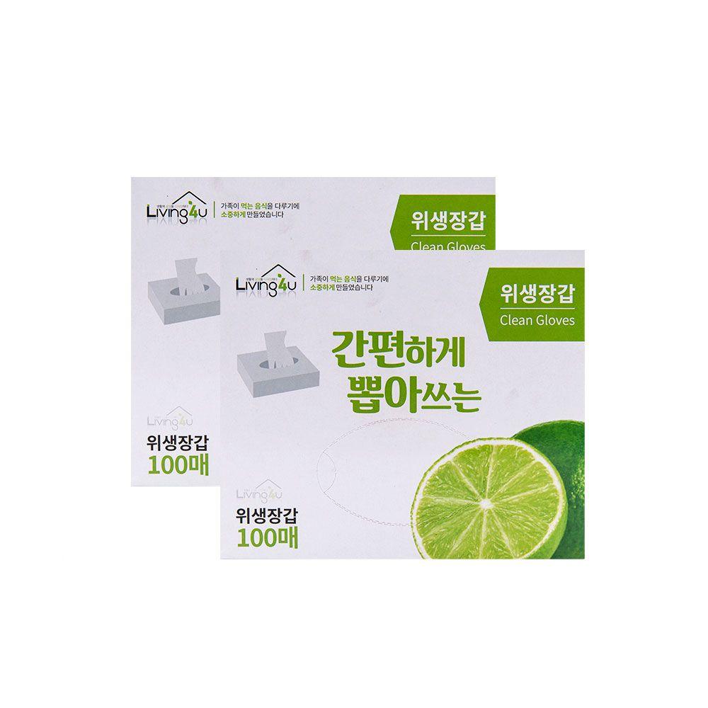 위생장갑 100매 1개-주방 요리용 비닐장갑 일회용
