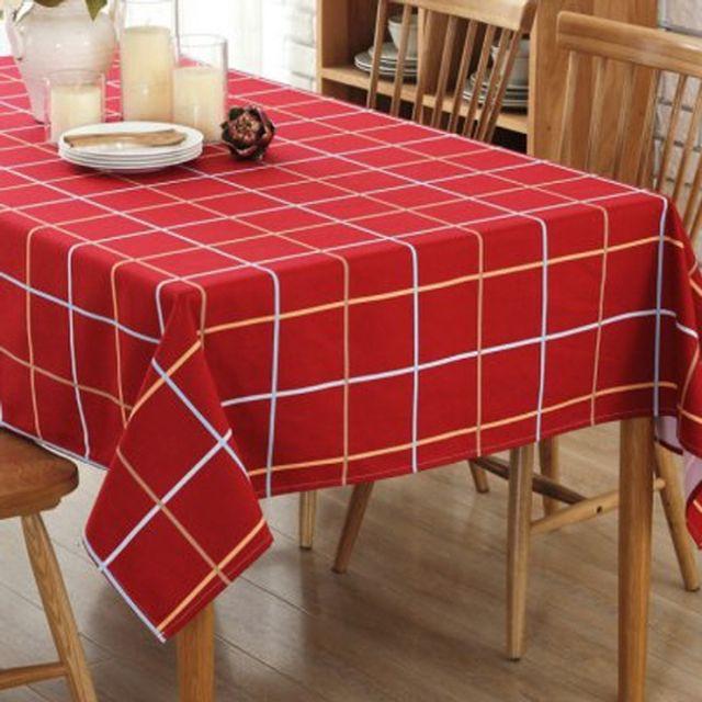 크리스마스 올레드 체크 테이블 식탁보 러너 140