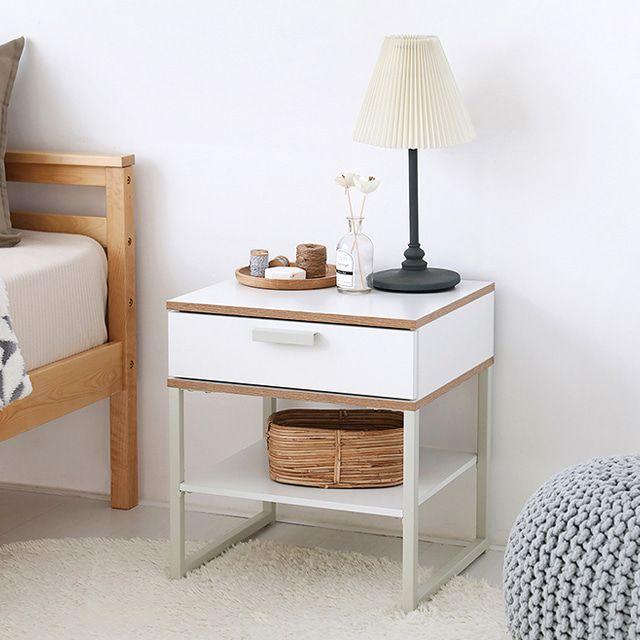TR 사이드 틈새 보조 침대옆 소파 쇼파 테이블 화이트
