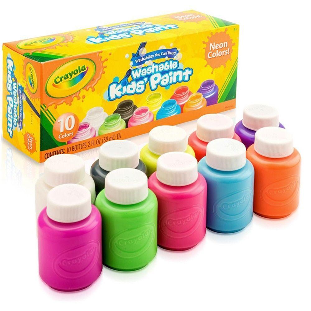 어린이 그림 그리기 색칠 놀이 형광 수성 물감 10색