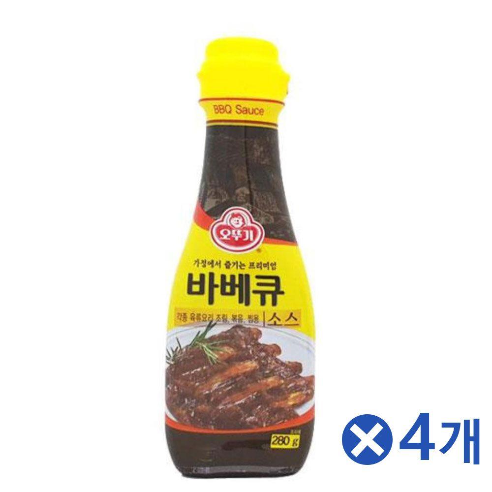 바베큐소스 일반 매운맛 택1x4개 소스류 맛있는소스