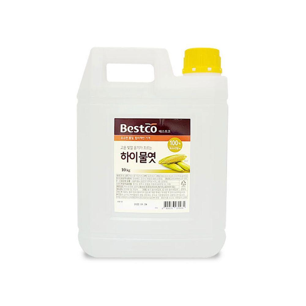 베스트코 하이물엿 10kg/ 대용량 업소용 물엿 말통