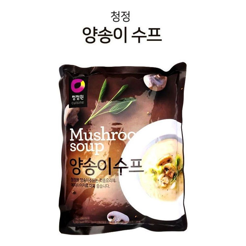 청정원 양송이 스프 1kg 국내산 양송이 에피타이저