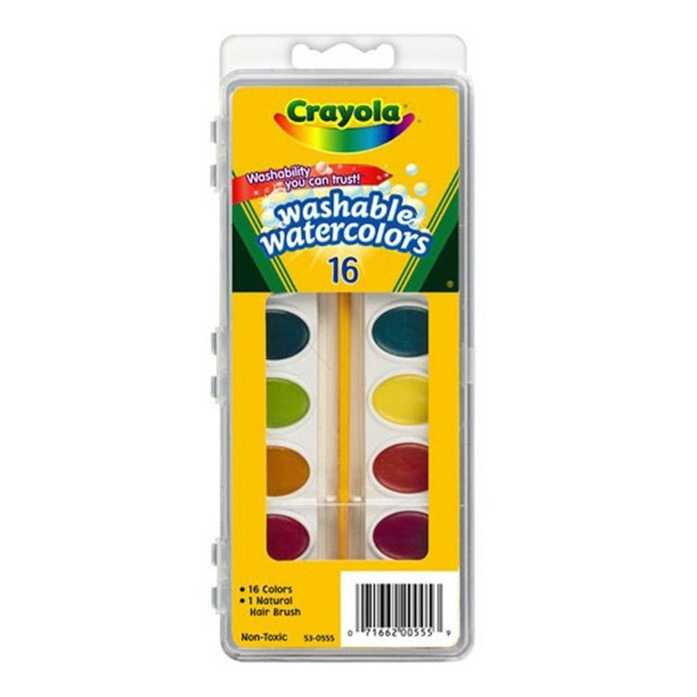 미술 조카 선물 색칠 놀이 수채화 물감 16색과 붓