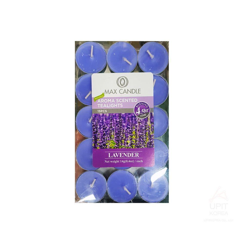 아로마 향 티라이트캔들 15PCS(4.5시간) 라벤더