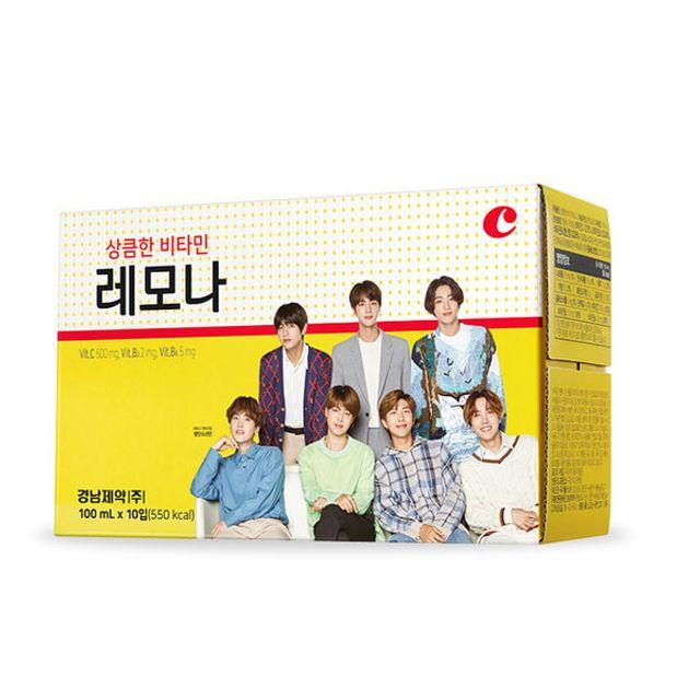 레모나 병 드링크 10병 방탄 BTS 비타민 음료