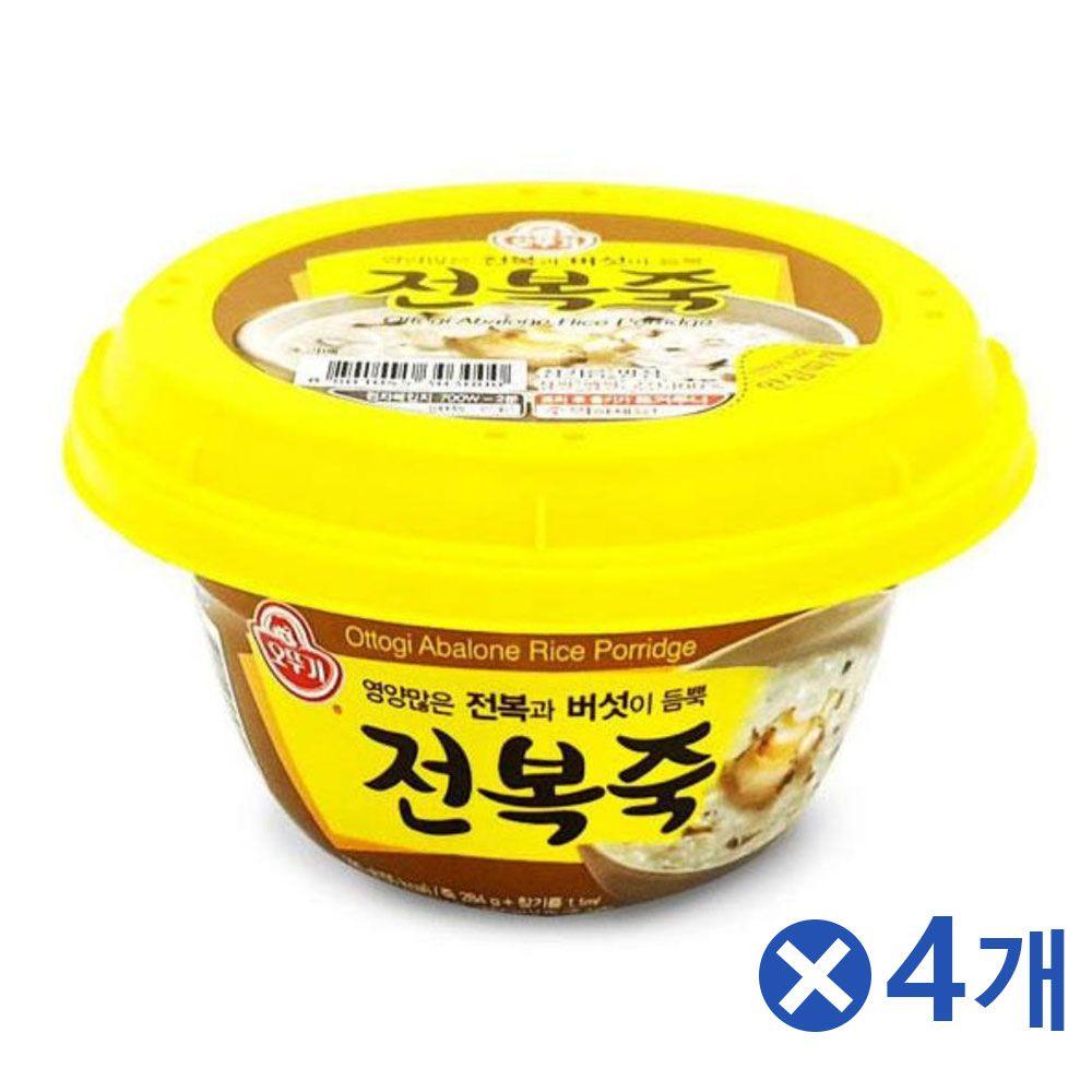 영양가득 오뚜기 전복죽x4개 간단식사 식사대용식품