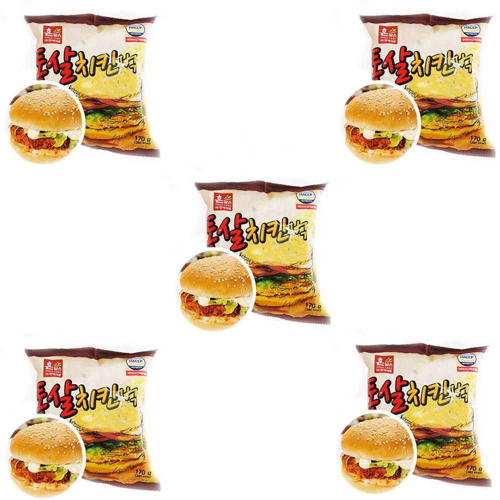 경규 독서실 빵 통살치킨벅 버거 햄버거 맛있는빵 5EA