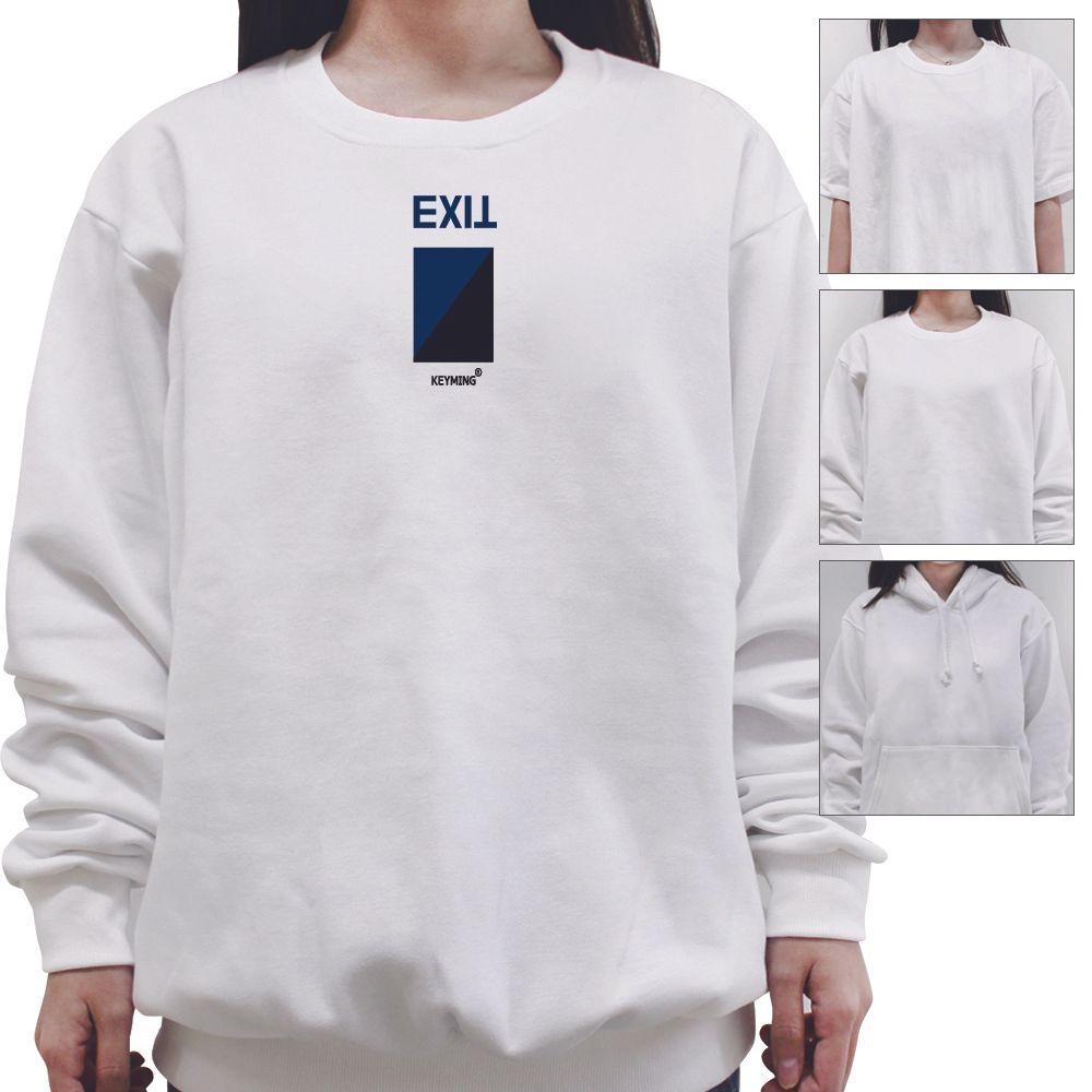 exit 출구 비상구 티셔츠 후드 맨투맨 반팔티