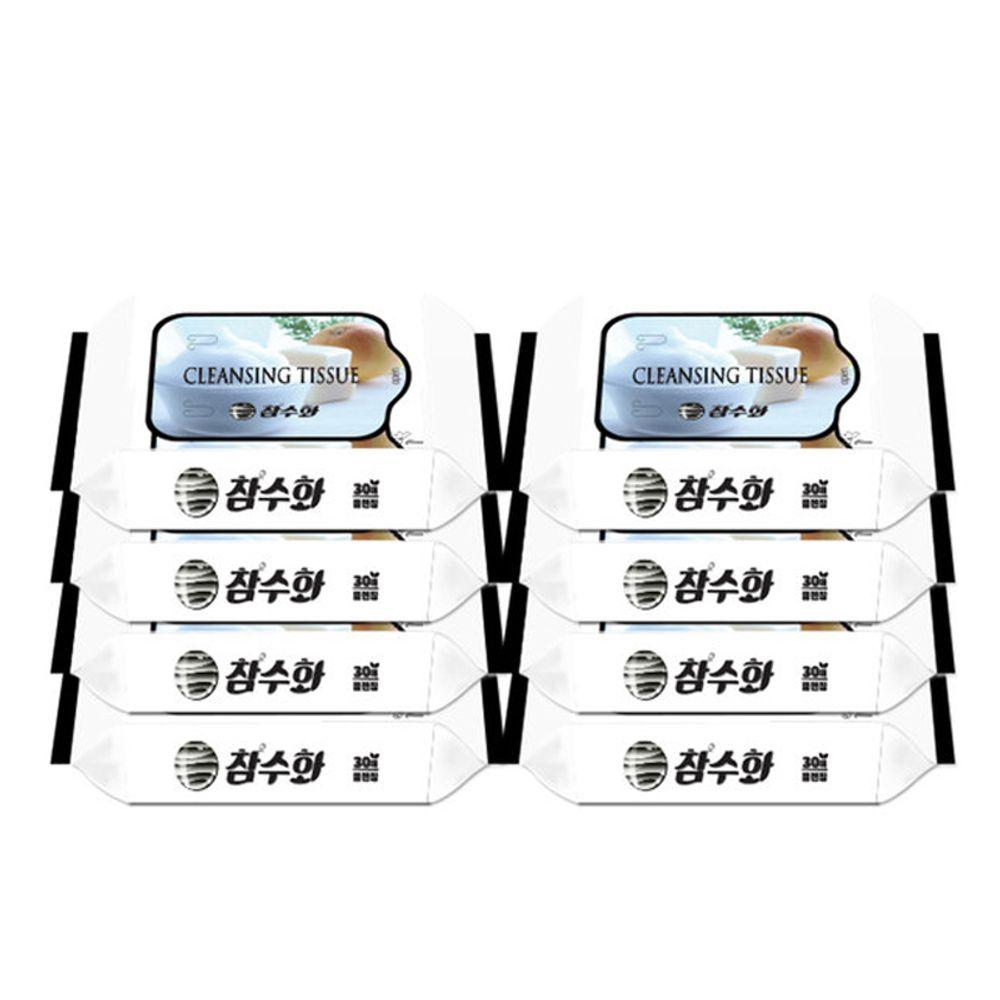 참수화 클렌징 티슈 도톰한 두꺼운 물티슈30매x8개