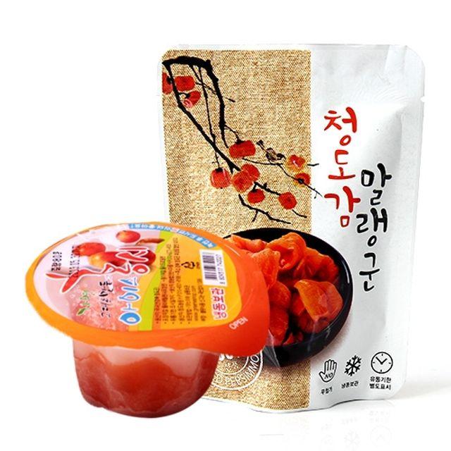 경북청도 껍질없는 아이스 왕 홍시 20개(컵)/개당100 120g 청도감 말랭군 50g내외 20봉