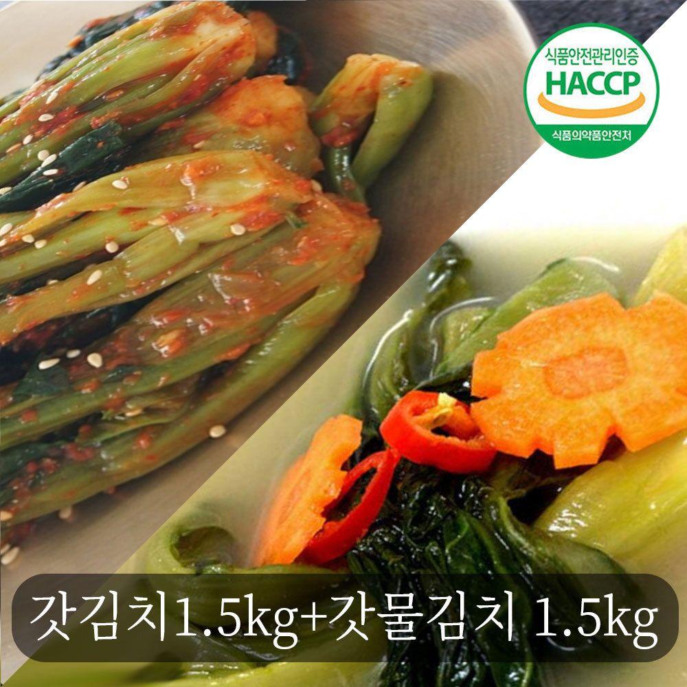 전통손맛 여수 돌산 갓 돌갓김치 갓물김치 3kg세트