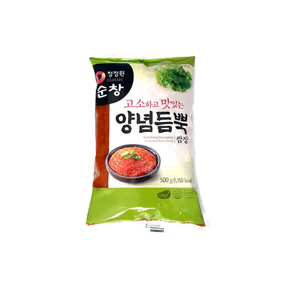 청정원 순창 양념듬뿍쌈장 비닐포장 500g 고기장 양념