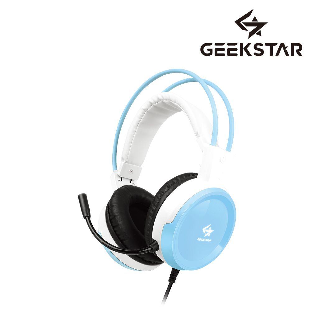 GEEKSTAR GH100 블루 스테레오 게이밍 헤드셋