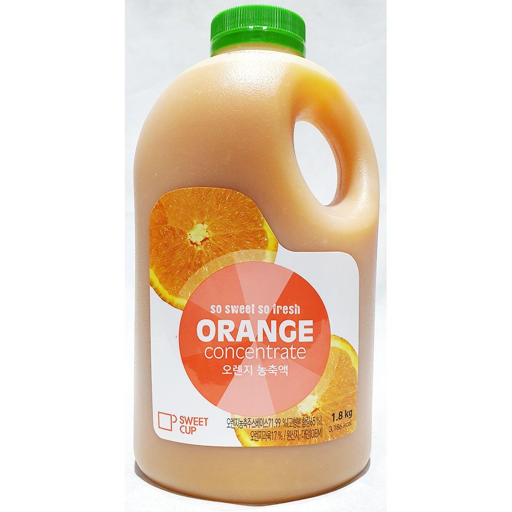 업소용 카페 식자재 오렌지농축액 스위트컵 1.8kg