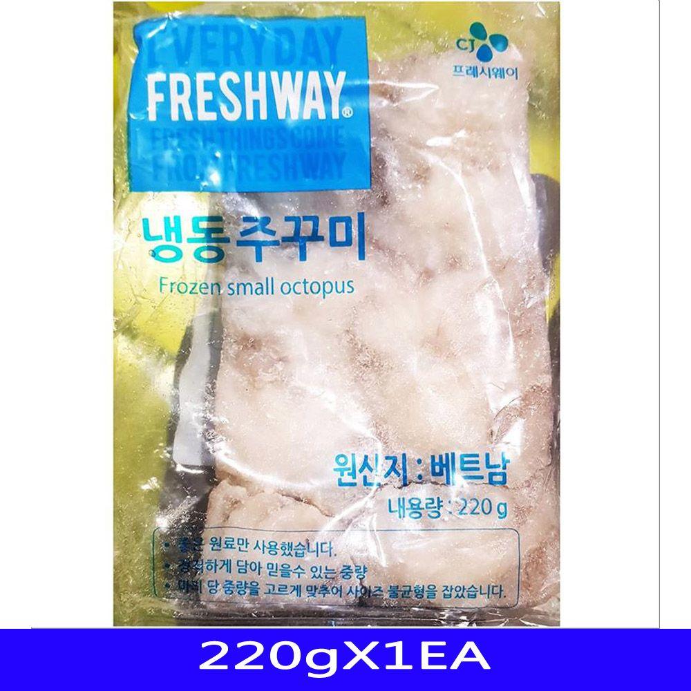 냉동수산물 냉동쭈꾸미 프레시웨이 10미_220gX1EA