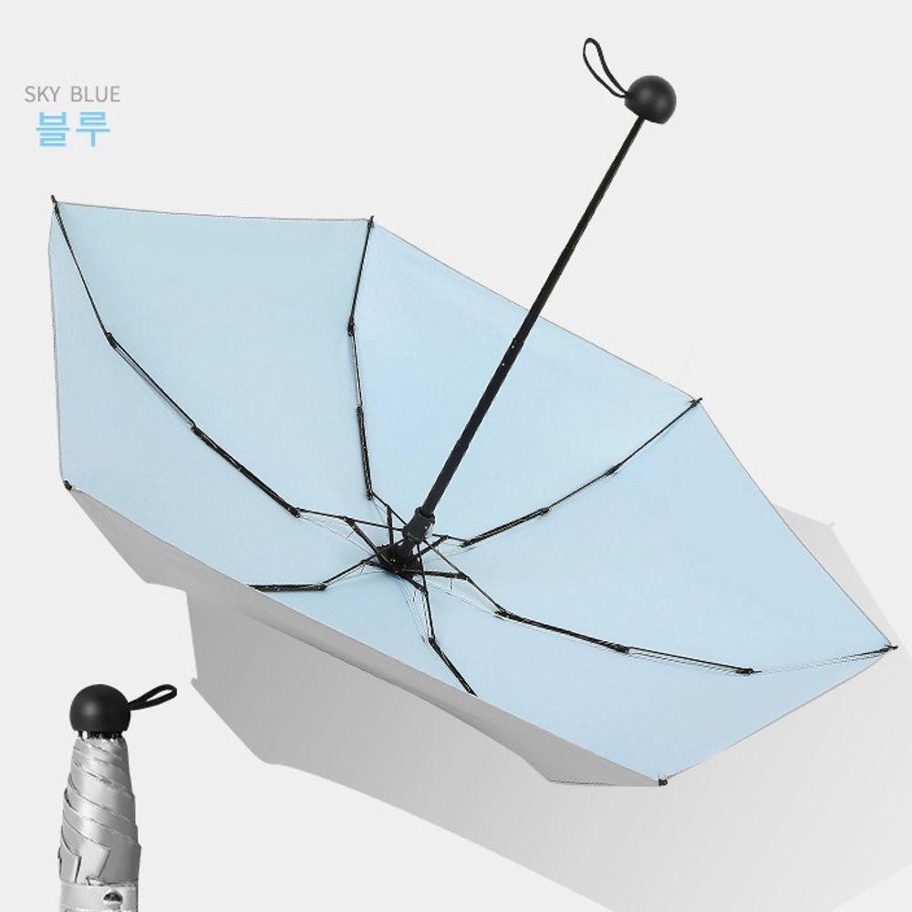 미니 양산 우산 5단우양산 겸용 경량 자외선차단 블루