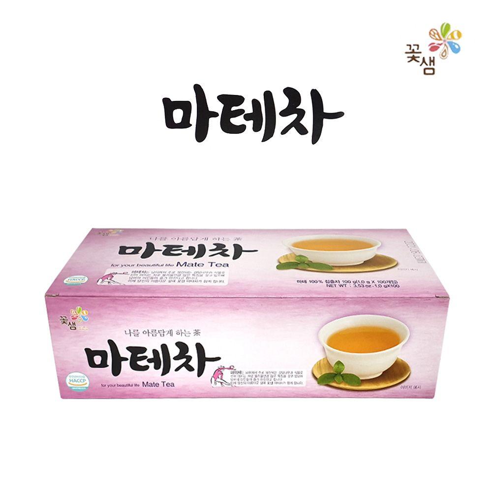 꽃샘 마테차 티백100T/ 허브티/ 티타임/ 홈카페