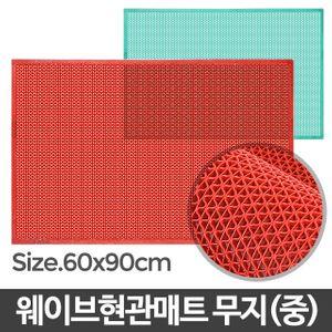 아이티알,LB 웨이브현관매트 무지 중/발판 발매트 욕실 미끄럼방지