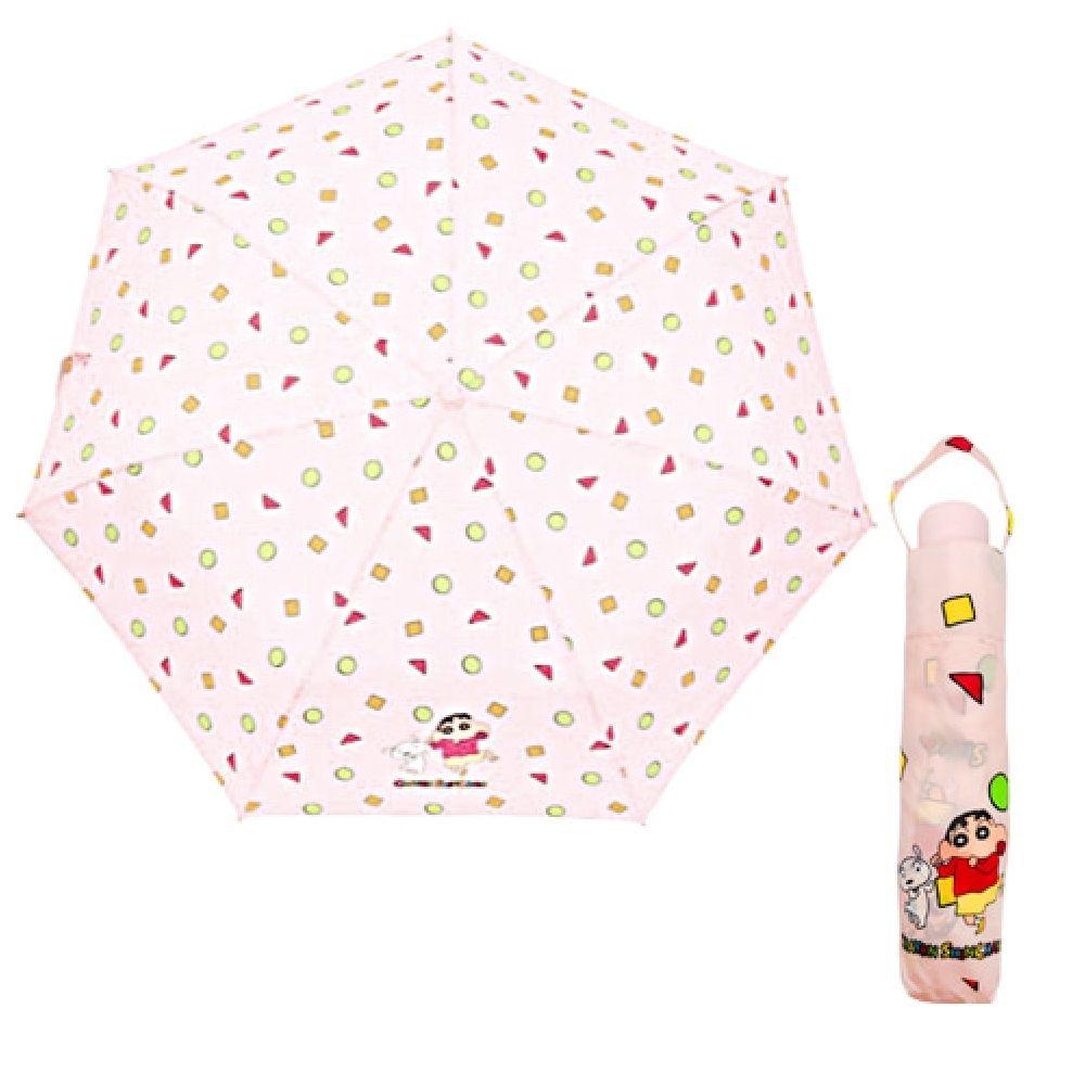 짱구는못말려 부리부리댄스 3단 수동 우산 (핑크)