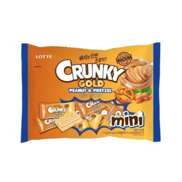 미니크런키 골드 171g 8봉지 대량 간식 초콜릿 프레