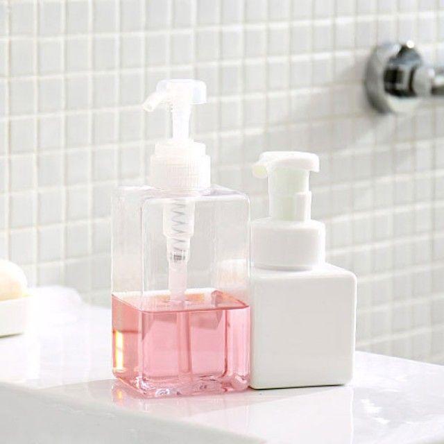 W0D67C9 생활 건강>욕실용품>욕실잡화>샤워용품 내츄럴 심플퓨어 디스펜서 거품용기-펌핑전용 450ml