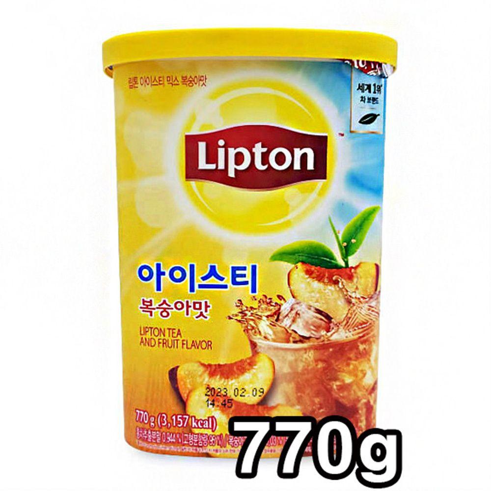 립톤 아이스티 믹스 770g 복숭아맛 아이스차 홍차