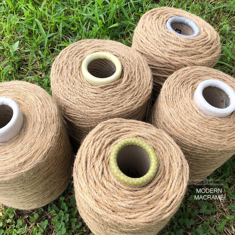 황마 마끈 콘사 2 4 6 9 12합 마로프 마크라메 재료