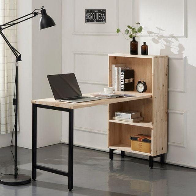 삼나무 586 컴퓨터 사무용 책장 철다리 책상세트