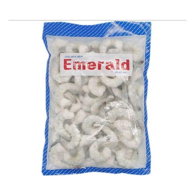 탈각 껍질 제거한 에메랄드 새우 21-25 900g