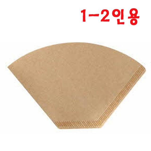 레베떼커피 공식 온라인스토어,1~2인용 여과지 (브라운) 100PX 3개 무표백필터 커피