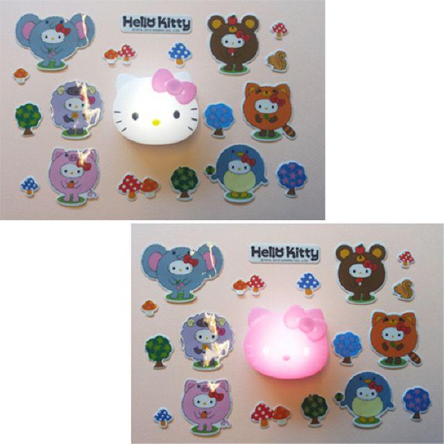 헬로키티 스티커 LED 취침등 핑크
