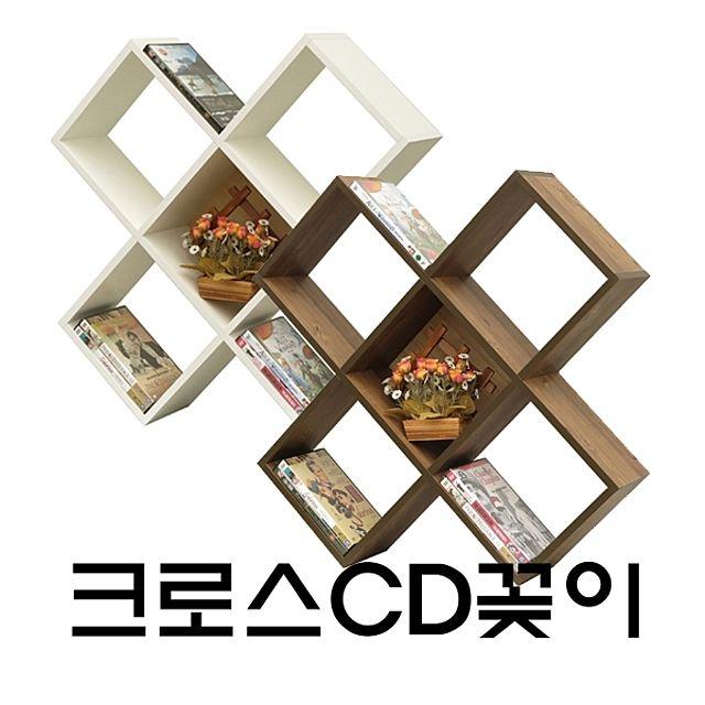 크로스CD꽂이 CD꽂이 씨디꽂이 씨디정리대 CD정리대 CD장 씨디장