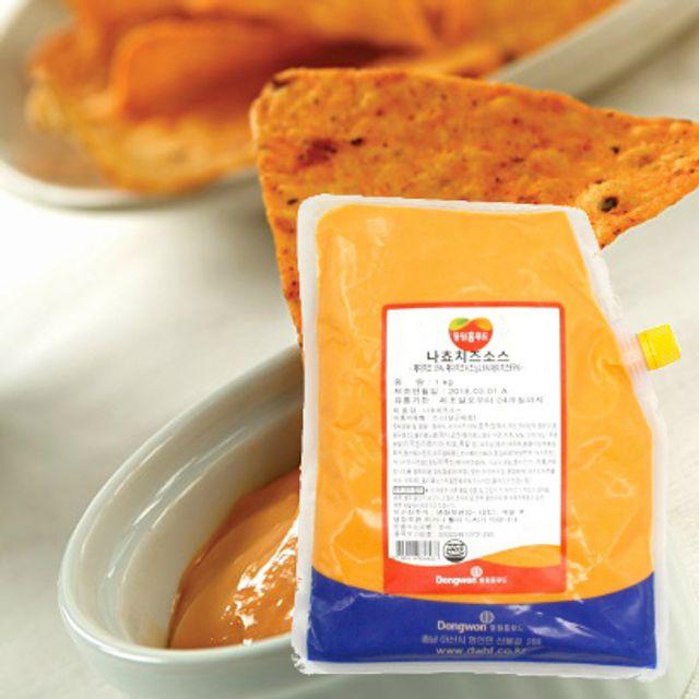 동원 나쵸 치즈소스 1kg 체다치즈 영화관나쵸맛